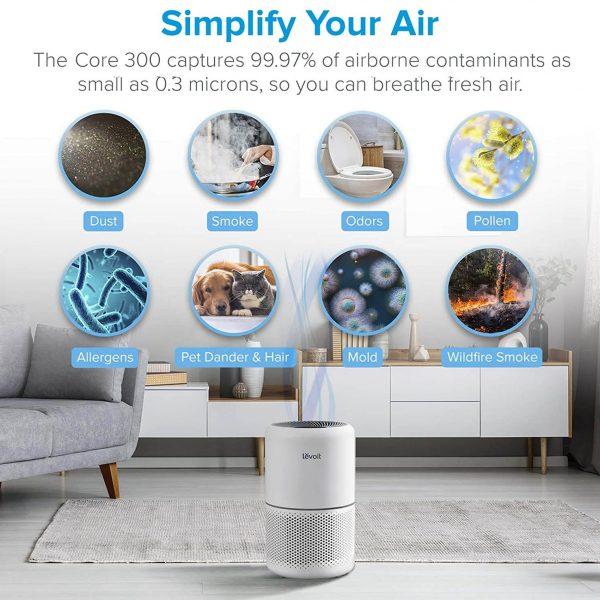 Purificador de aire Levoit Core 300 elimina partículas